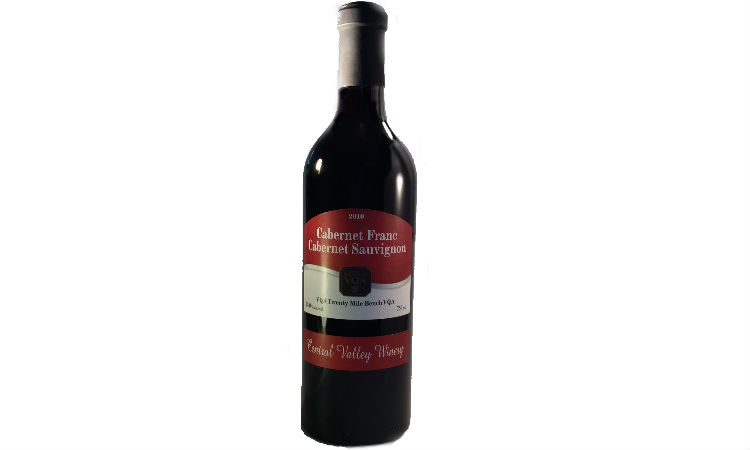 Cabernet Franc Red central valley winery